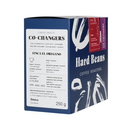 Hard Beans Gwatemala CO-CHANGERS Huehuetenango El Oregano Natural FIL 250g, kawa ziarnista (outlet)