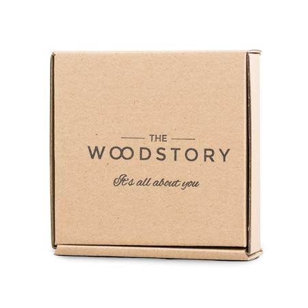The Wood Story - Bransoletka z drewnianą zawieszką - Kawiarka
