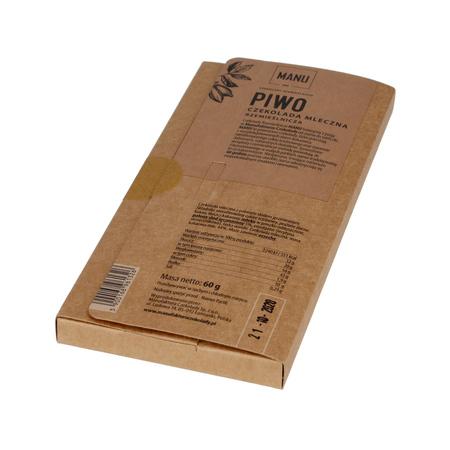 Manufaktura Czekolady - Czekolada mleczna 44% ze słodem jęczmiennym - Piwo