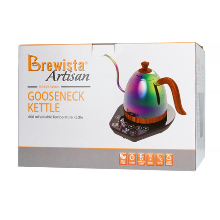 Brewista Artisan Gooseneck Variable Kettle Unicorn 0,6 L - Czajnik elektryczny kolorowy