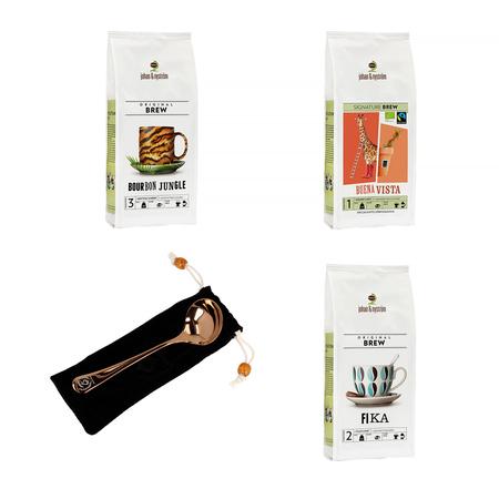 Zestaw: 3 x Kawa Johan & Nyström Espresso #2 + Łyżka Cuppingowa Barista Space