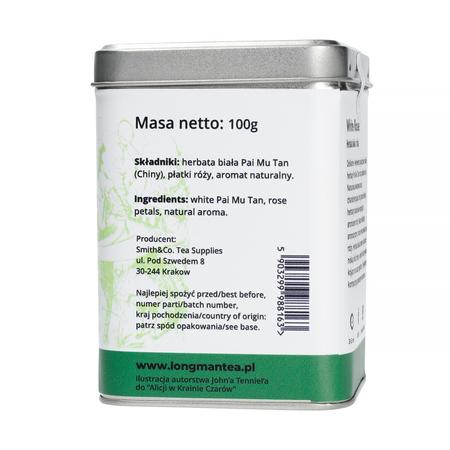 Long Man Tea - White Rose - Herbata sypana - Puszka 100g