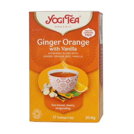 Yogi Tea - Ginger Orange with Vanilla - Herbata 17 Torebek