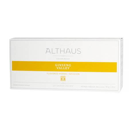 Althaus - Ginseng Valley Grand Pack - Herbata 20 dużych saszetek