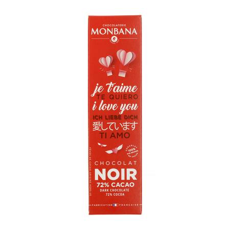 Monbana - Walentynkowa Gorzka Czekolada 72% 40g