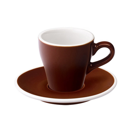 Loveramics Tulip - Filiżanka i spodek Espresso 80 ml - Brown