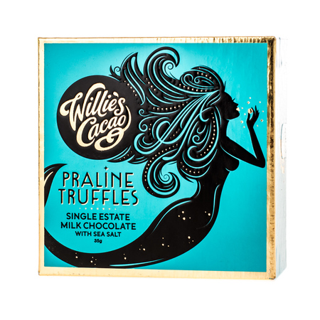 Willie's Cacao - Czekoladki - Praline Truffles Milk Chocolate with Sea Salt 35g