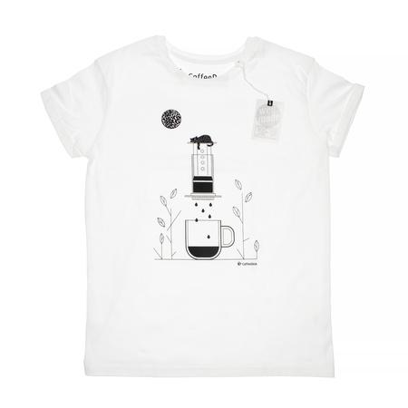 Koszulka Coffeedesk Aeropress Biała - Męska XL