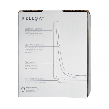 Fellow Monty Latte Cup - Kubek czarny 325 ml
