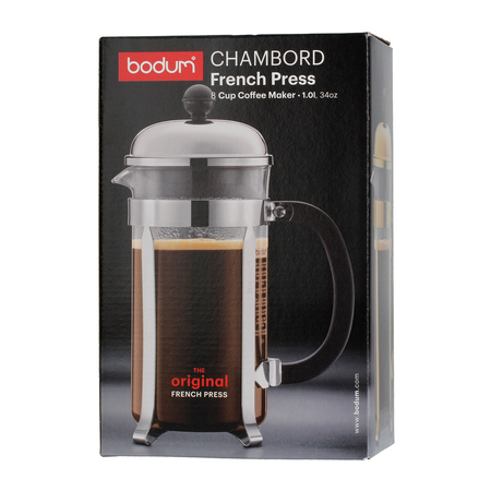 Bodum Chambord French Press 8 cup - 1l Chrom