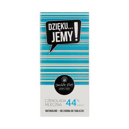 Manufaktura Czekolady - Czekolada 44% DZIĘKU...JEMY! - Niebieskie opakowanie