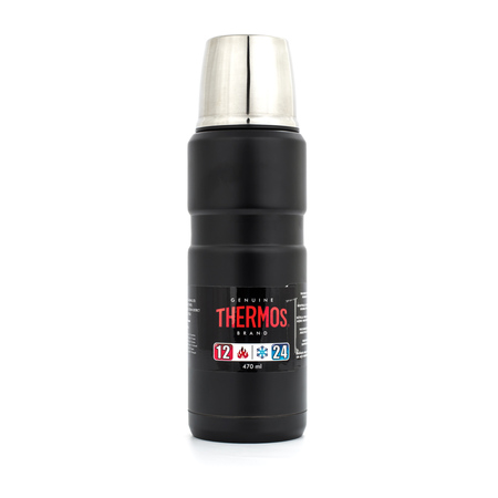 Thermos KING Matte Black 470 ml Termos czarny mat (outlet)
