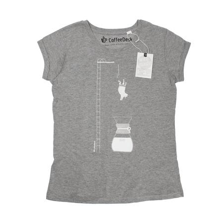 Koszulka Coffeedesk Chemex Szara - Damska XL