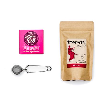 Zestaw Zaparzacz do herbaty + Herbata Teapigs + Czekolada