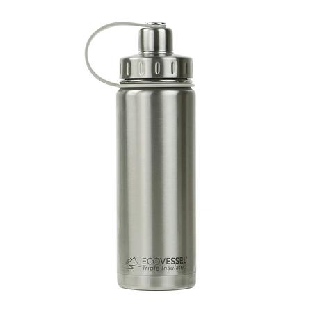 EcoVessel - Butelka termiczna Boulder - Srebrna 600 ml