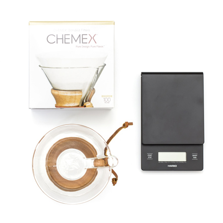 Zestaw Chemex + Filtry + Waga