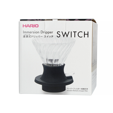 Hario zestaw Immersion Switch - drip V60-02 + filtry