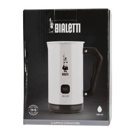 Bialetti Milk Frother MKF02 Bianco - Elektryczny spieniacz do mleka Biały