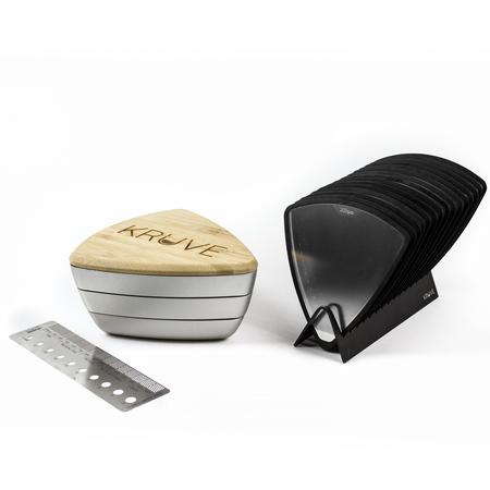 Kruve Sifter Plus Grind Silver - Odsiewacz do kawy z 15 sitkami - srebrny (outlet)