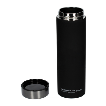 Asobu - Le Baton Czarny / Szary - Butelka termiczna 500 ml