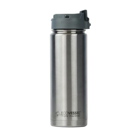EcoVessel - Butelka termiczna Perk - Srebrna 600 ml