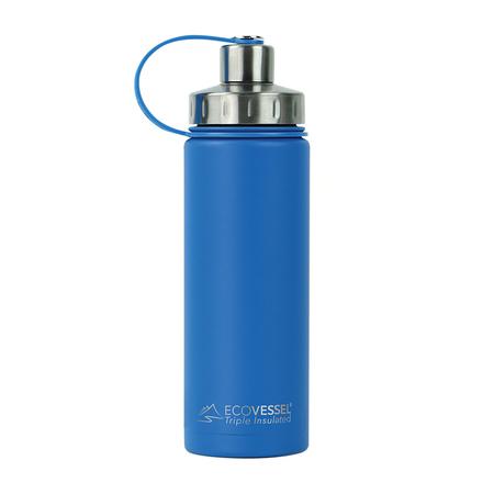 EcoVessel - Butelka termiczna Boulder - Niebieska 600 ml