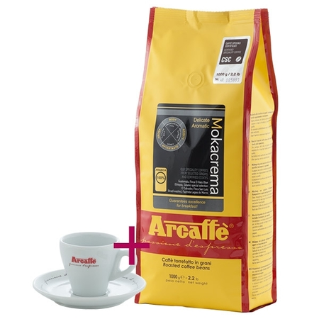 Zestaw: Arcaffe Mokacrema 1kg + Filiżanka do espresso