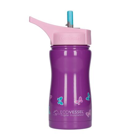 EcoVessel - Butelka termiczna dla dzieci Frost - Purple Butterfly 400 ml
