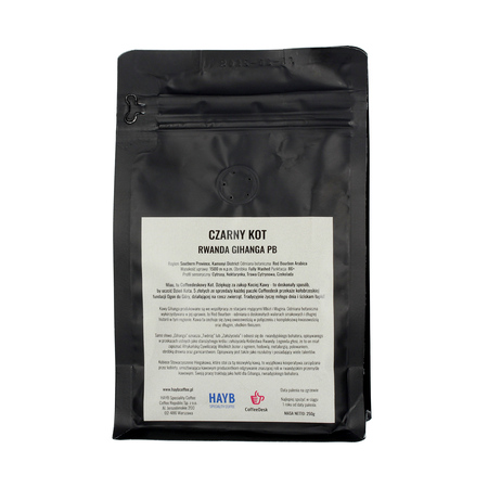 HAYB x Coffeedesk - Rwanda Gihanga PB Czarny Kot Espresso