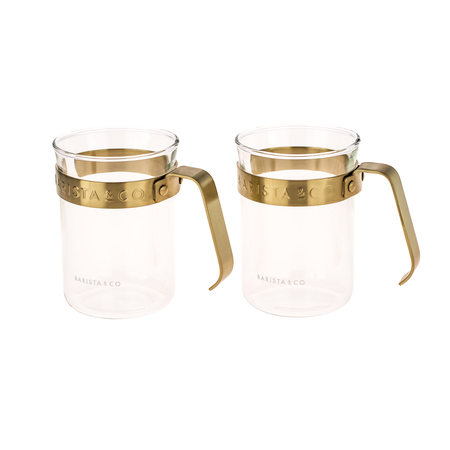 Barista & Co - Metal Framed Cups Midnight Gold - Kubki 2 szt.