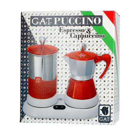 Kawiarka elektryczna ze spieniaczem G.A.T. Gatpuccino 4tz - Żółta