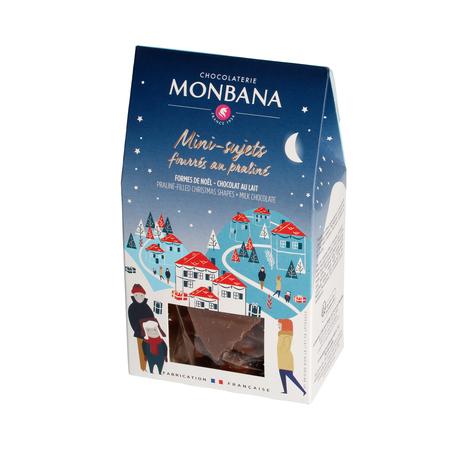 Monbana - Świąteczne praliny w mlecznej czekoladzie 130g