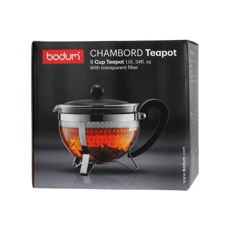 Bodum Chambord - Zaparzacz do herbaty z plastikowym filtrem 1l - Czarny