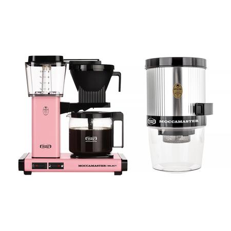 Zestaw: Ekspres przelewowy Moccamaster KBG Select Pink + Młynek Moccamaster KM4