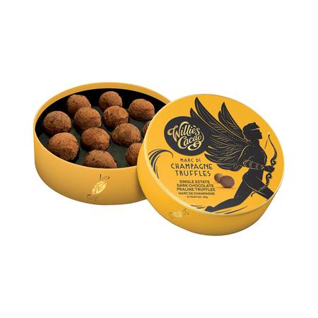 Willie's Cacao - Czekoladki - Praline Truffles Dark Chocolate with Marc de Champagne 110g