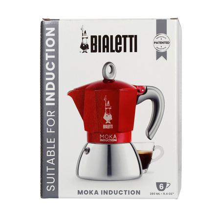 Bialetti kawiarka New Moka Induction 6tz czerwona (outlet)