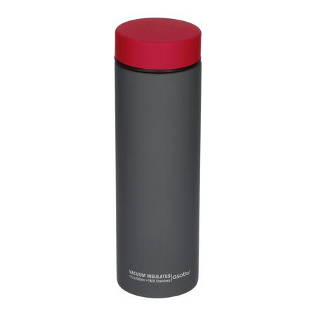 Asobu - Le Baton Szary  / Czerwony - Butelka termiczna 500ml