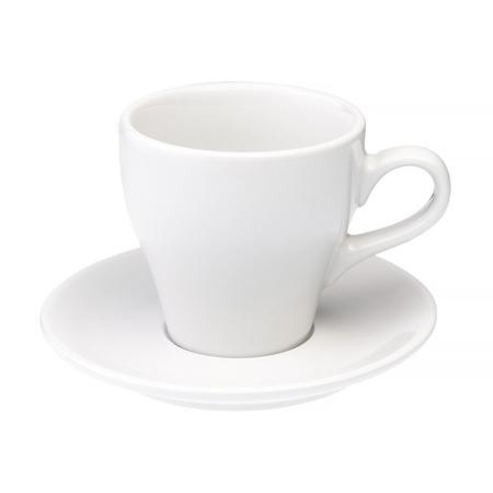 Loveramics Tulip - Filiżanka i spodek Cafe Latte 280 ml - White