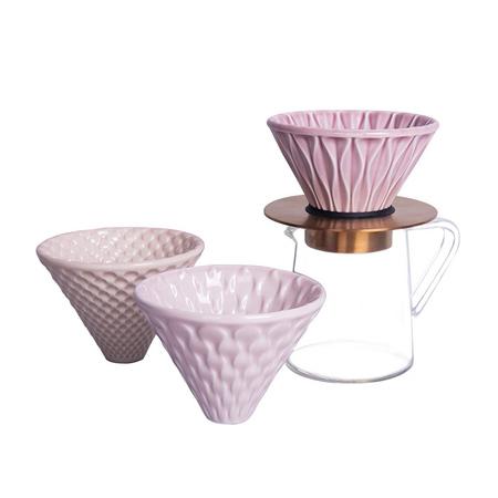Loveramics Brewers - Dripper Set - Pink
