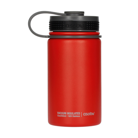 Asobu Mini Hiker Water Bottle 355ml Red (outlet)