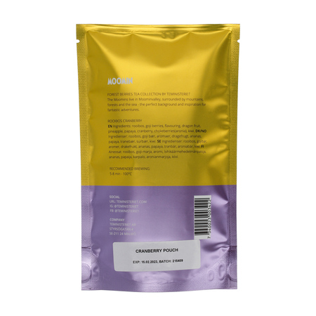 Teministeriet - Moomin Rooibos Cranberry - Herbata sypana 100g - Opakowanie uzupełniające