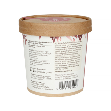Brown House & Tea - Pitta Dosha Balance - Herbata sypana 40g