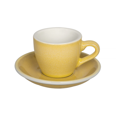 Loveramics Egg - Filiżanka i spodek Espresso 80 ml - Butter Cup