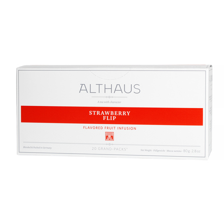 Althaus - Strawberry Flip Grand Pack - Herbata 20 dużych saszetek