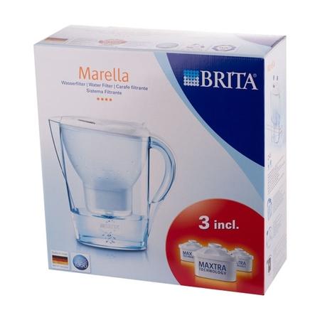 Brita Marella - dzbanek biały 2,4l + 3 wkłady Maxtra
