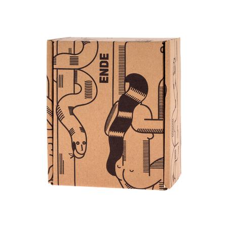 ENDE - Kubek 200ml - Główka z czarnej porcelany