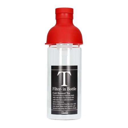 Hario butelka z filtrem Cold Brew Tea - czerwona 300 ml