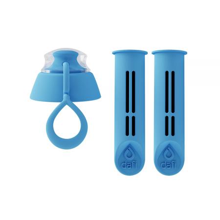Dafi - 2 filtry do butelki + zakrętka - Niebieski