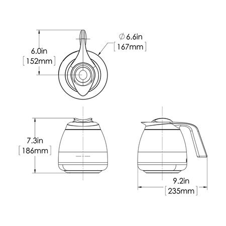 Bunn Seamless Thermal Carafe - Dzbanek termiczny 1,9 L