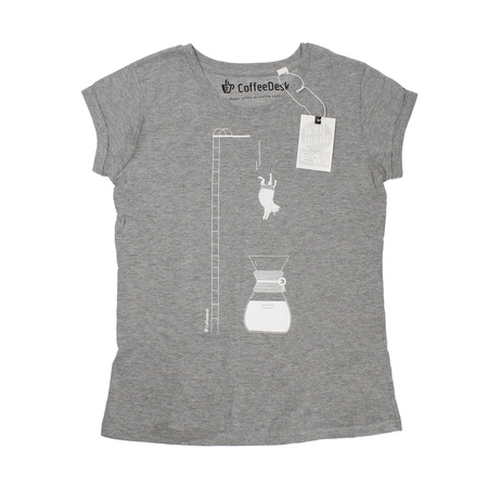 Koszulka Coffeedesk Chemex Szara - Damska M